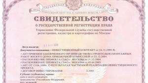 Регистрационный номер свидетельства о регистрации права